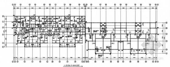 底框结构商住楼结构施工图(六层 筏型基础 坡屋面)