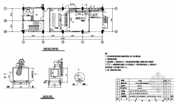 某尾气余热发电工程厂房空调通风图