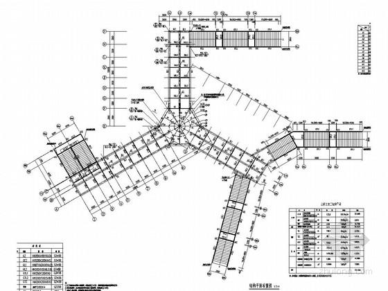Y字型人行天桥结构施工图