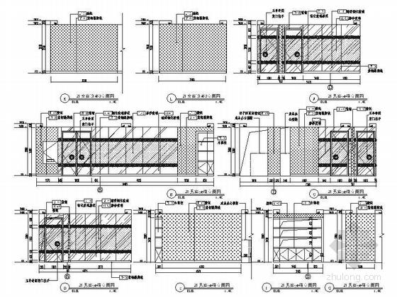 [北京]原创综合医药研究院典雅中式医院装修施工图(含效果)女宾诊区立面图