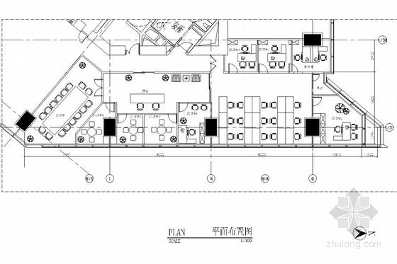 [北京]地标性高层写字楼内办公室施工图