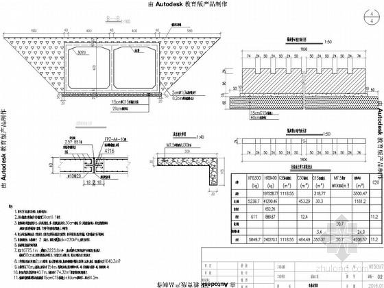 [江苏]2016年设计涵长67m双孔4×4m箱涵施工图纸15张