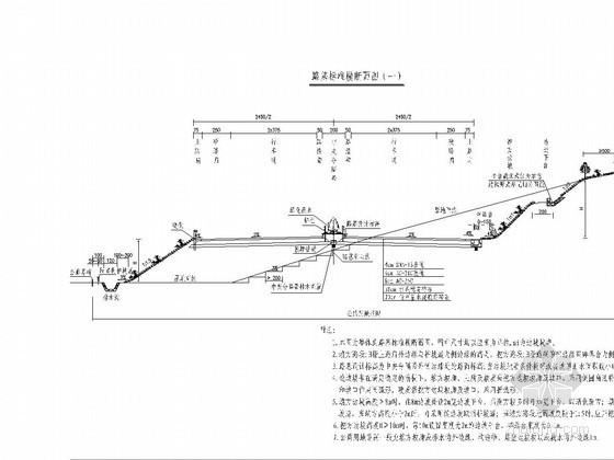 双向四车道高速公路路基路面初步设计全套CAD图198张(410张数据表)