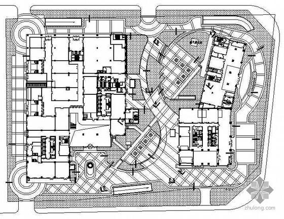 [北京]某商业区中心外环境景观设计施工图