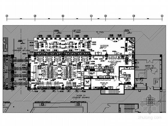 [海南]五星级酒店全日餐厅室内装修施工图