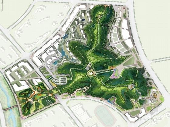 [长沙]开放式山林公园景观规划设计方案