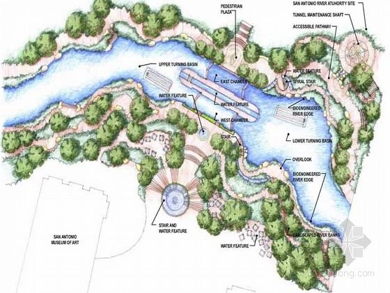 [美国]城市滨水地区景观规划设计方案(英文方案文本)
