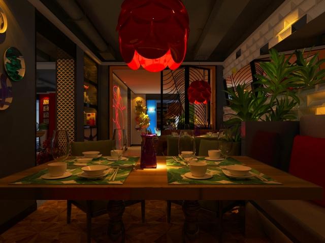 沈阳·爱尚虾塘主题餐厅设计效果图