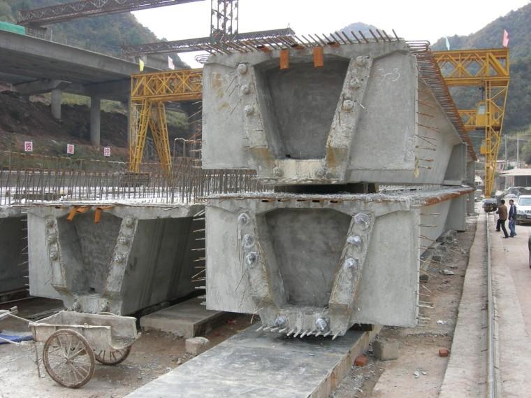 预制梁桥安装施工工法与解析第二讲-预制装配式梁片施工图片