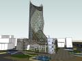 一个高层办公楼设计的模型