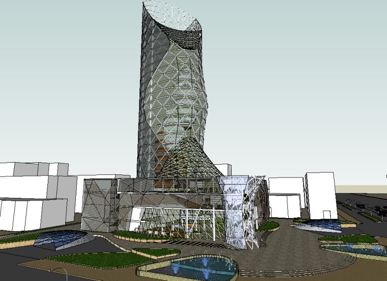 一个高层办公楼设计的模型_5