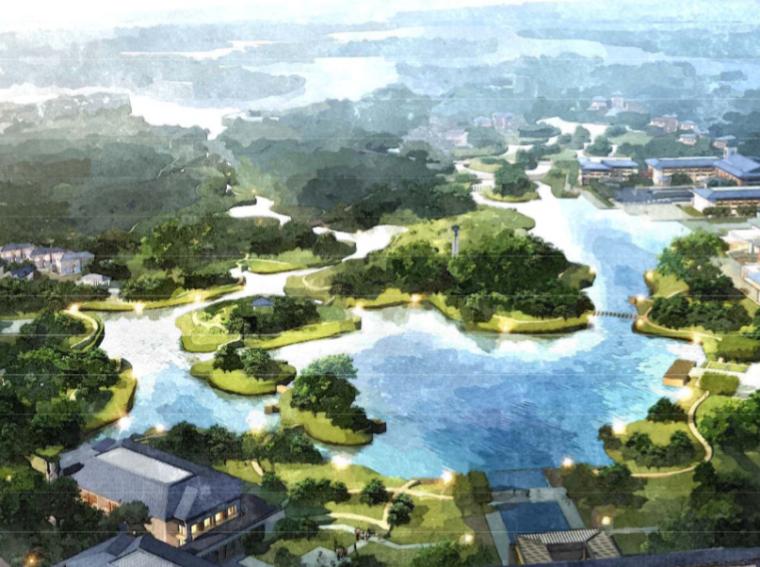 [河北]凤凰岛度假酒店和生态湿地景观规划设计(传统,野趣)