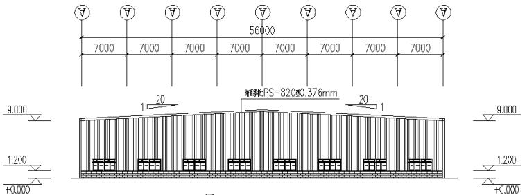 中辉工程126mx56m刚架结构施工图_4