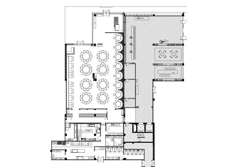 [上海]朱周空间设计-冶春茶社上海吴中路店设计施工图+效果图