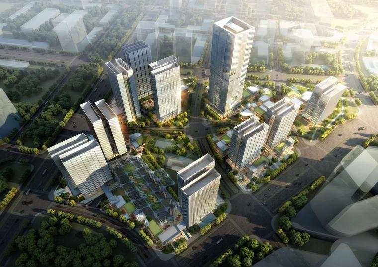 [北京]通州商务办公区模型设计(2018年)