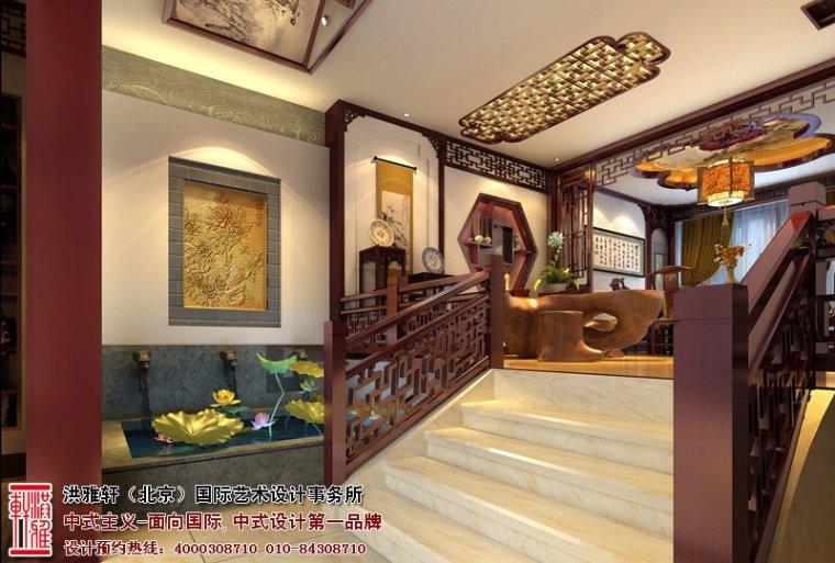 唐山别墅中式设计效果图,高贵多古雅之风_4