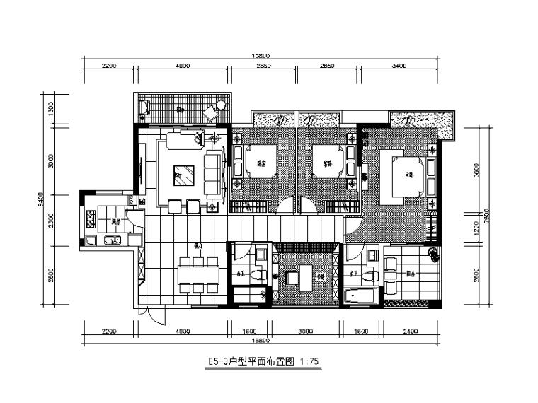 [广东]新中式风格别墅设计CAD施工图(含效果图)