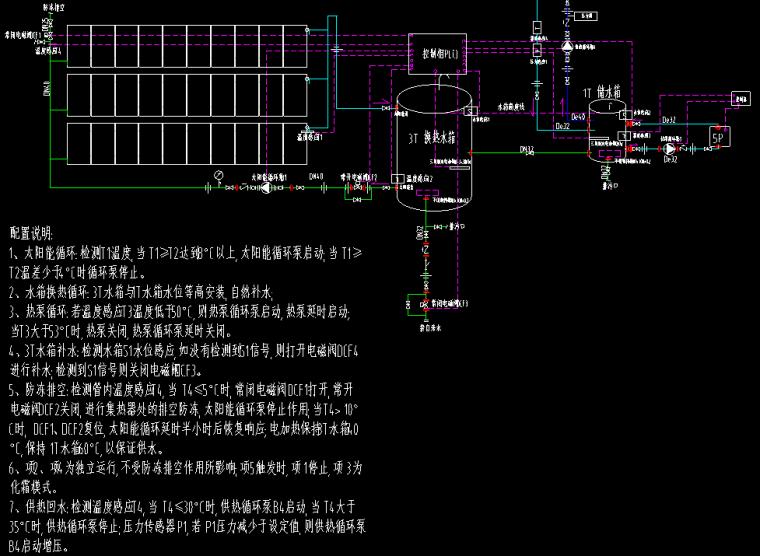 太阳能、热泵热水系统设计图纸_1