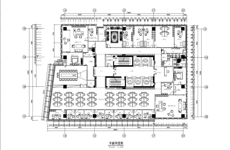 ING办公室的艺术墙资料下载-某现代风格房地产有限公司办公室施工图(含78张图纸)