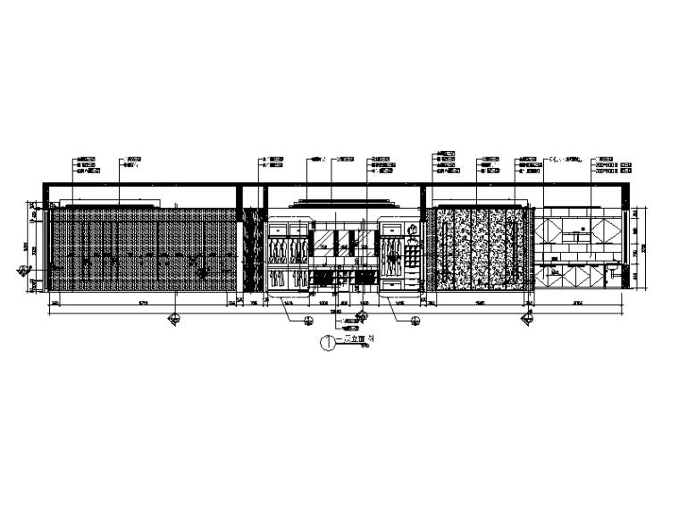别墅楼办公室设计CAD施工图(含效果图)_2