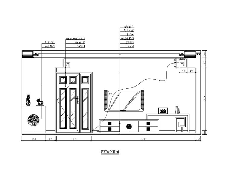 新中式样板房设计CAD施工图(含效果图)_3