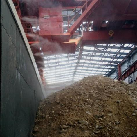 竖井口喷雾降尘,地铁施工除尘不二之选!