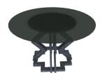 圆形桌子3D模型下载