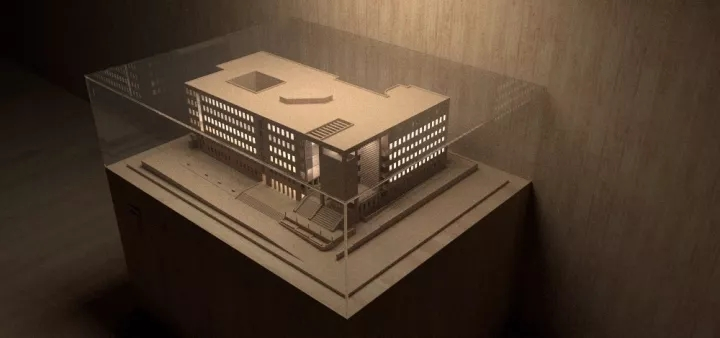 经验 大学建筑系馆模型感渲染-建筑方案-土木资料网建筑设计