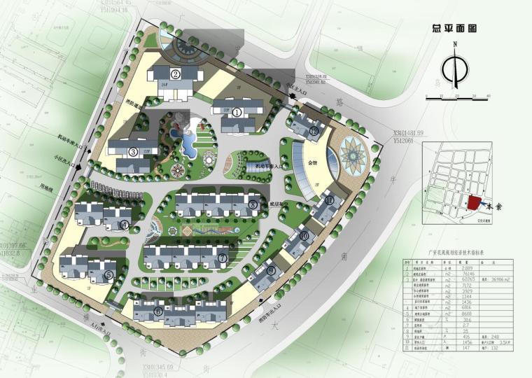 某花园综合住宅区详细规划cad28张