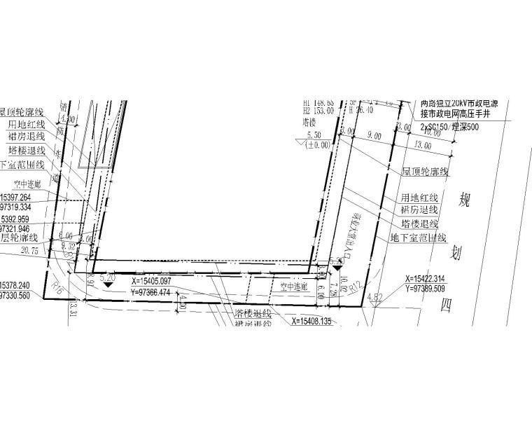 深圳超高层办公大楼电气施工图