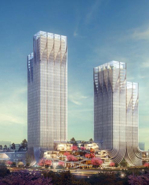 [绿地]超高层双塔式绿地办公楼建筑设计方案文本