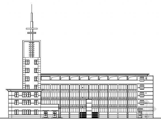 某五层消防大队办公楼建筑施工图