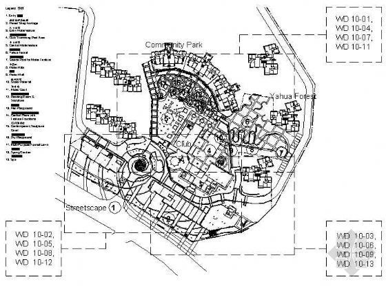 长沙花园小区一期景观设计施工图(三)