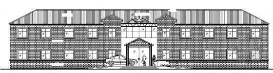 某二层坡屋顶小型办公楼建筑施工图