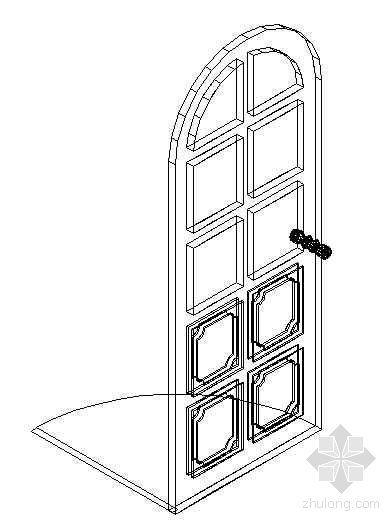 门CAD模型图块1