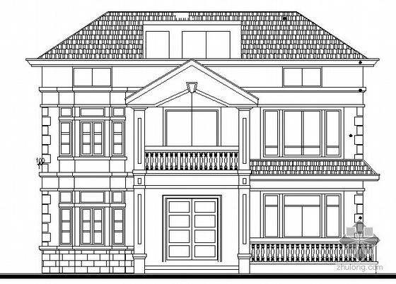 [浙江]某三层独立小别墅建筑方案图