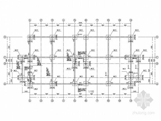 [云南]三层钢结构职工宿舍结构施工图