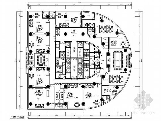 [深圳]国有独资副部级现代金融支行办公楼装修施工图(含电气,给排水及暖通图)