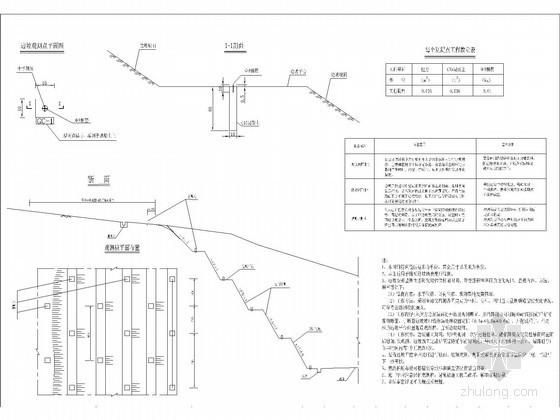 [四川]高填深挖路基挖方边坡变形监测断面布置图
