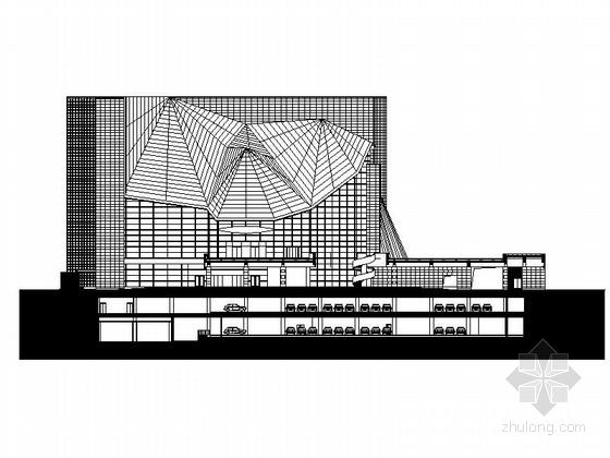 [深圳]现代风格高层幕墙式音乐厅建筑施工图(289张图纸,超详细)