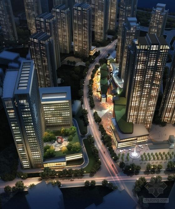 超高层artdeco风格住宅区效果图
