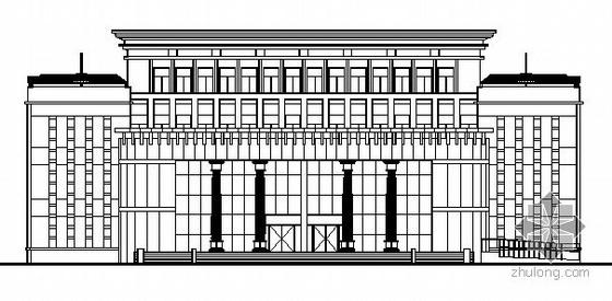 某四层法院审判楼建筑施工图