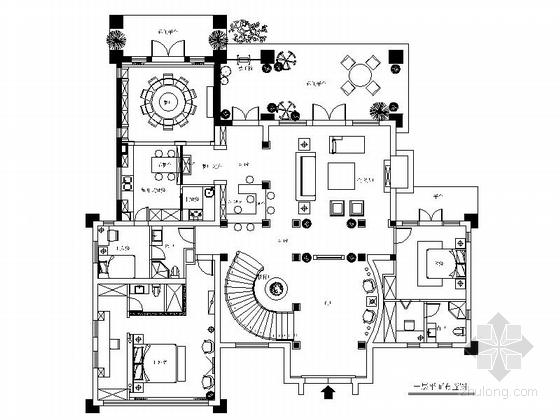 [上海]鸟语花香古典欧式风格独栋别墅样板间装修施工图(含高清实景)