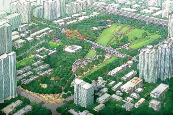 上海静安雕塑公园景观方案