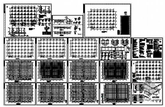 某六层框架厂房结构图
