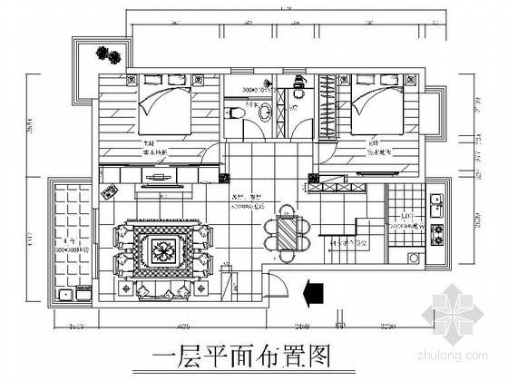 [江苏]顶层复式室内装修图