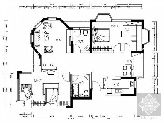 现代二居室内设计图