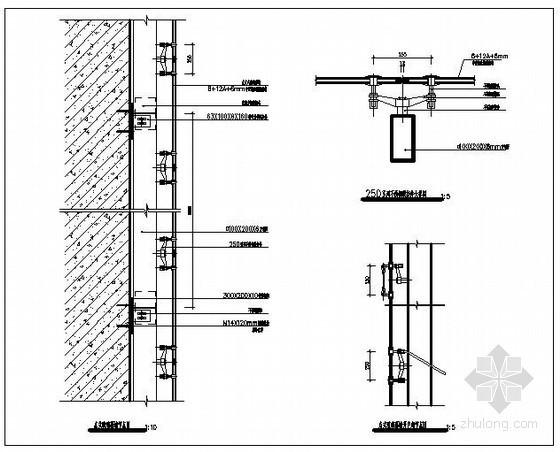 点式玻璃幕墙节点详图