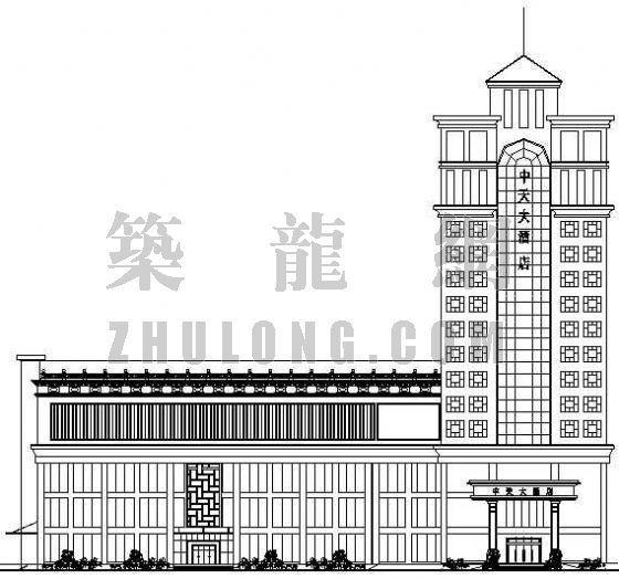 东莞某星级宾馆建筑设计方案