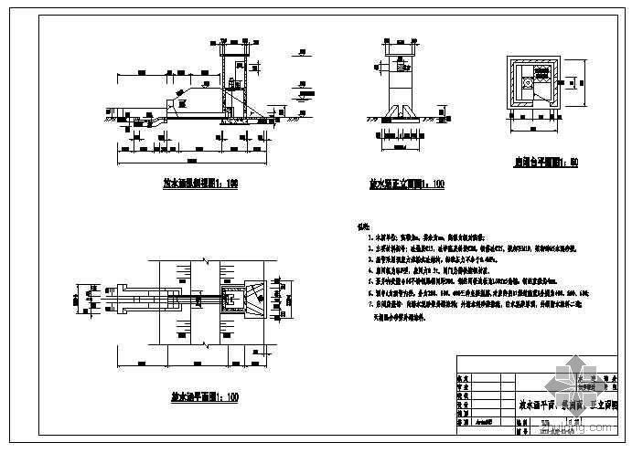渠道配套工程成套图纸